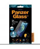 Case Friendly AntiGlare Screenprotector voor de iPhone 12 Mini - Zwart