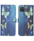 Design Softcase Book Case voor de Samsung Galaxy A12 - Vlinders