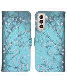Design Softcase Book Case voor de Samsung Galaxy S21 Plus - Bloesem