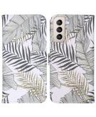 Design Softcase Book Case voor de Samsung Galaxy S21 Plus - Glamour Botanic