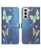 Design Softcase Book Case voor de Samsung Galaxy S21 - Vlinders