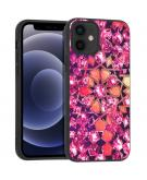 Design voor de iPhone 12 Mini hoesje - Grafisch - Roze Bling