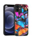 Design voor de iPhone 12 Mini hoesje - Jungle - Vlinder