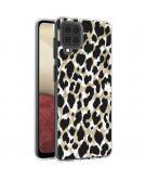Design voor de Samsung Galaxy A12 hoesje - Luipaard - Goud / Zwart