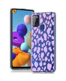 Design voor de Samsung Galaxy A21s hoesje - Luipaard - Paars