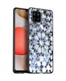 Design voor de Samsung Galaxy A42 hoesje - Grafisch - Zilver Bling