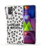 Design voor de Samsung Galaxy M51 hoesje - Luipaard - Bruin / Zwart