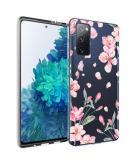 Design voor de Samsung Galaxy S20 FE hoesje - Bloem - Roze