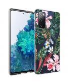 Design voor de Samsung Galaxy S20 FE hoesje - Jungle - Groen / Roze