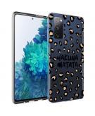Design voor de Samsung Galaxy S20 FE hoesje - Luipaard - Bruin / Zwart