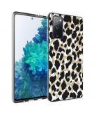 Design voor de Samsung Galaxy S20 FE hoesje - Luipaard - Goud / Zwart