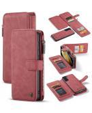 Luxe 2 in 1 Portemonnee Booktype voor de Samsung Galaxy S21 - Rood