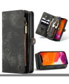 Luxe Lederen 2 in 1 Portemonnee Booktype voor de iPhone 12 Mini - Zwart