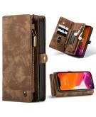 Luxe Lederen 2 in 1 Portemonnee Booktype voor de iPhone 12 Pro Max - Bruin
