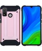 Rugged Xtreme Backcover voor de Huawei P Smart (2020) - Rosé Goud
