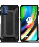 Rugged Xtreme Backcover voor de Motorola Moto G9 Plus - Zwart